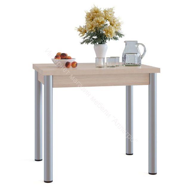 """Кухонный стол """"СО-1М"""" раскладной на металлических опорах Беленый дуб"""