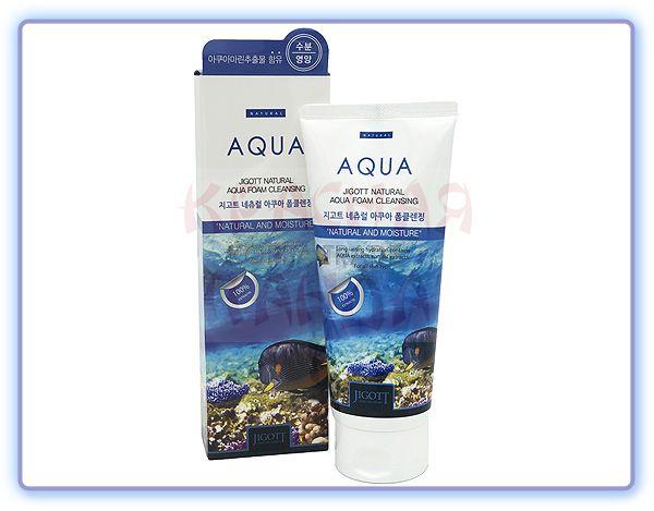 Пенка для умывания Коллаген Jigott Natural Aqua Foam Cleansing