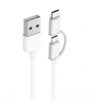 Кабель 2in1 USB Type-C/Micro Xiaomi ZMI 100см (AL501) ( Белый )