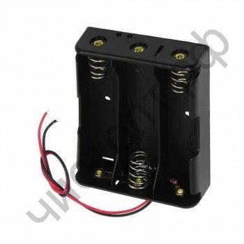 Батареечный отсек ET 18650 3S1P-W  на 3 акк. с проводами