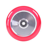 Колесо TechTeam TH 110мм прозрачный/розовый