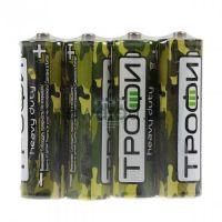 Элемент питания батарейка Трофи R03-4S Классика (60/1200/72000)