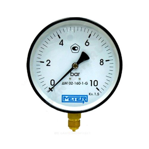 Манометр ДМ02-160 радиальный Дк160мм 0-1,6 кгс/см2 М20х1,5 Метер
