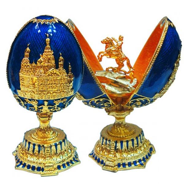 Яйцо-шкатулка под Фаберже Памятник Петру I