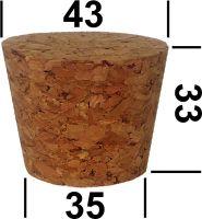 Корковая пробка прессованная для стеклянного термоса 3,2 литра