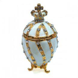 Яйцо-шкатулка под Фаберже с короной малый
