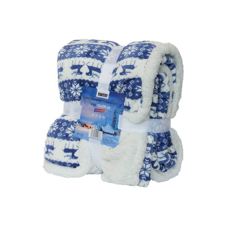 Плед SHERPA Blanket Laplandia 150*200 см blue/white