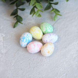 """Пасхальный декор """"Яйца в пастельных тонах"""" 1,8*2,5 см., компл. 6 шт."""