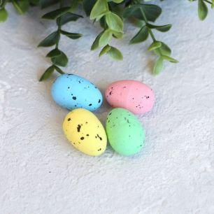 """Пасхальный декор """"Яркие яйца"""" 2*3 см., компл. 4 шт."""