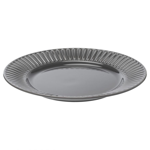 STRIMMIG СТРИММИГ, Тарелка, каменная керамика серый, 27 см - 604.431.89