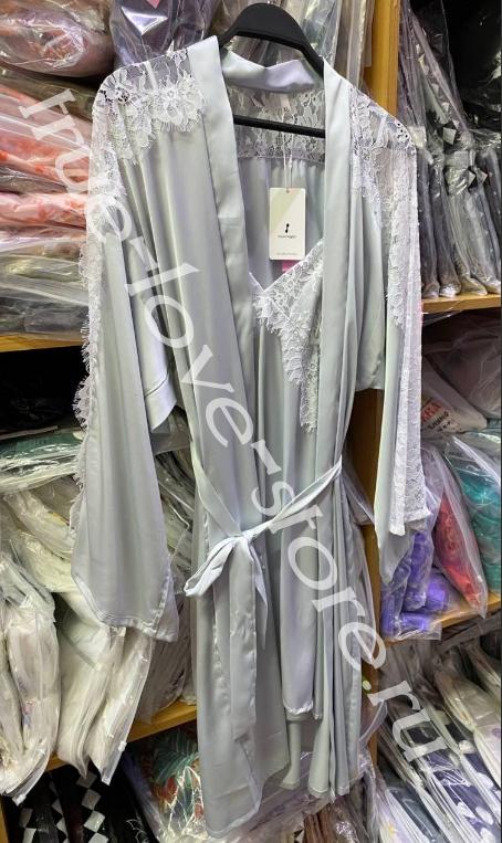 50626- Цена за 2 шт, Ажурная ночная сорочка и халат