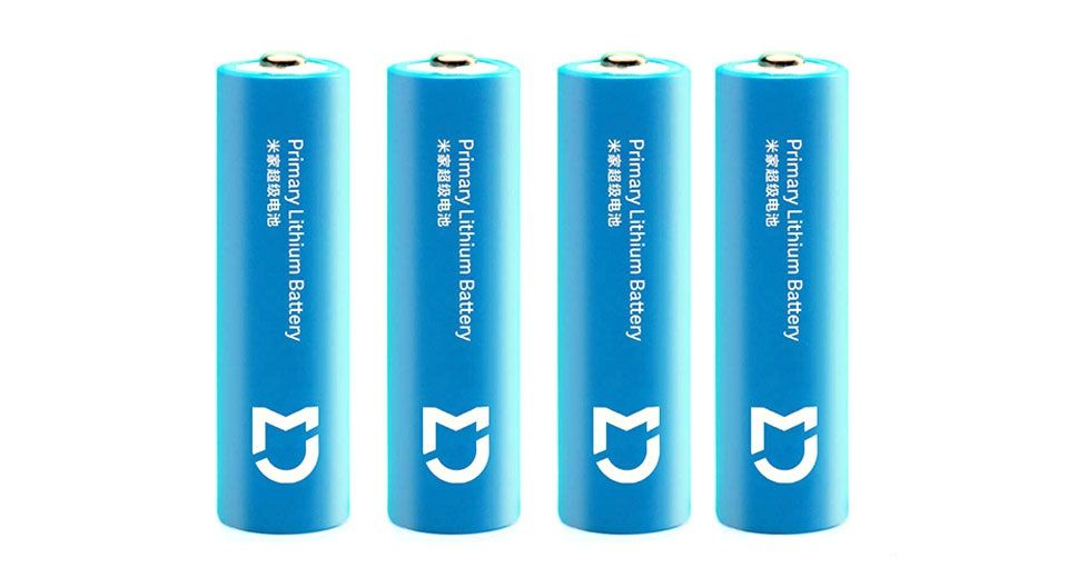Батарейки литиевые Xiaomi Mijia Super Lithium Battery типа АА (4шт) (2900Mah)