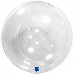 """Шар с клапаном, Deco Bubble, Прозрачный, 18""""/ 46см, Grabo"""
