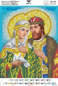 Virena А4Р_595 Святые Пётр и Феврония схема для вышивки бисером купить оптом в магазине Золотая Игла