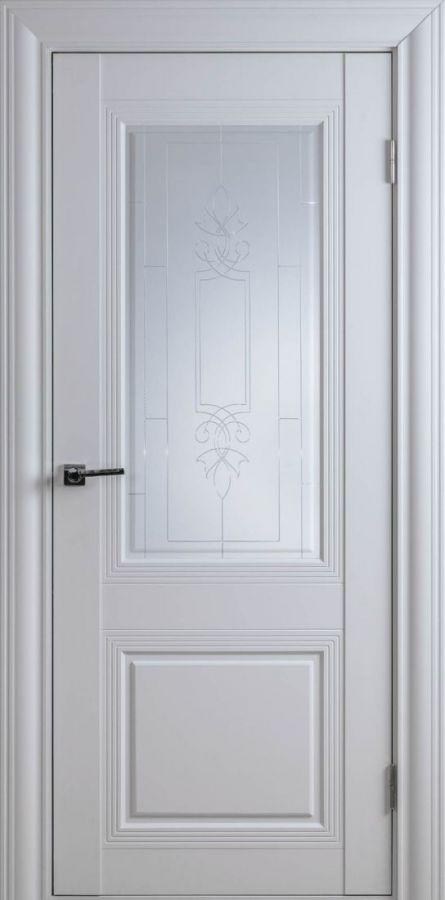 Дверное полотно Арт Классик-1SF Белый Шёлк (Стекло матовое)