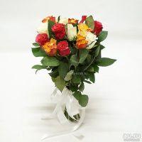 15 роз микс Кения 40см
