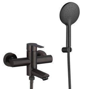 Смеситель для ванны с душевым набором Fmark FS8304H черный