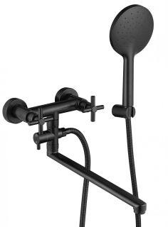 Смеситель Fmark FS8424H для ванны с душевым набором черный