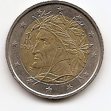 2 евро Италия 2005 из обращения
