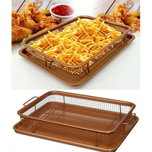 Сетка-корзинка для духовки, фритюра и барбекю Crispy Tray