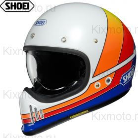 Шлем Shoei NXR EX-Zero Equation, Бело-красно-желтый
