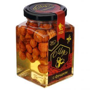 Мёд акациевый с фундуком, 300 гр