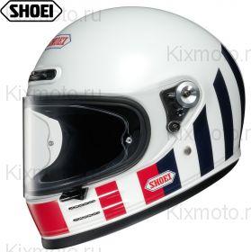 Шлем Shoei Glamster Resurrection, Бело-черно-красный