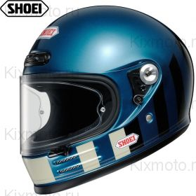 Шлем Shoei Glamster Resurrection, Сине-черно-белый