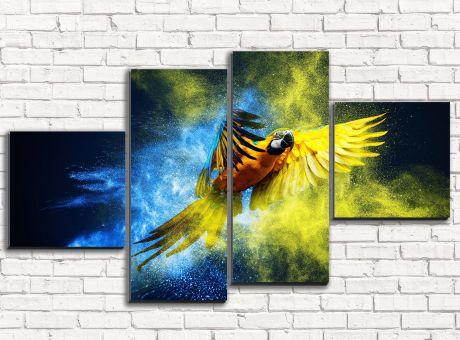 Модульная картина Шикарный попугай