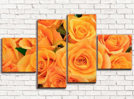 Модульная картина Оранжевые розы