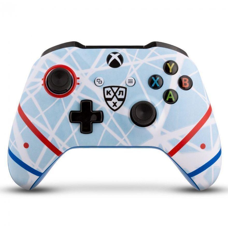 "Геймпад Microsoft Xbox One Wireless Controller КХЛ ""Русский Лёд"""