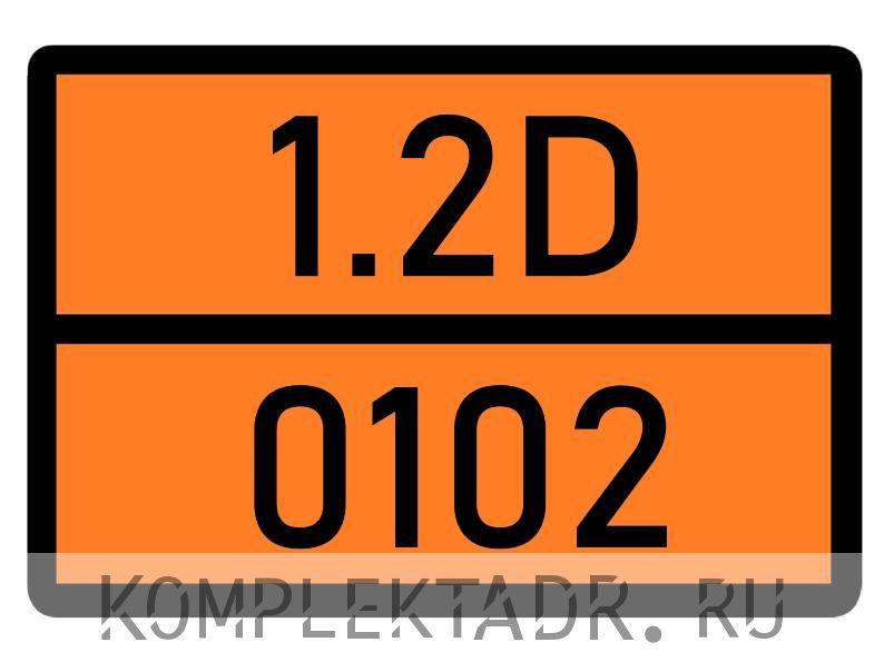 Табличка 1.2D-0102
