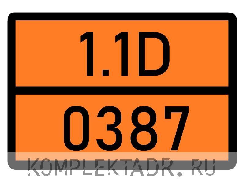Табличка 1.1D-0387