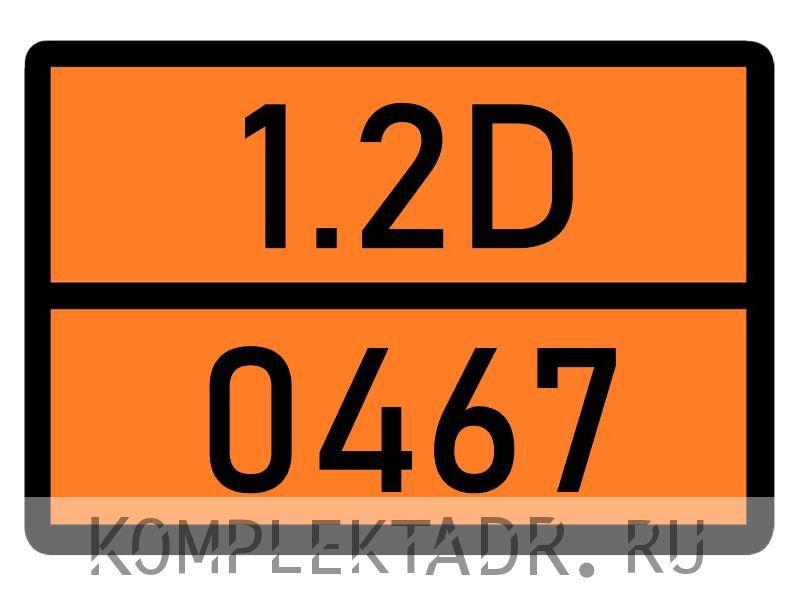 Табличка 1.2D-0467