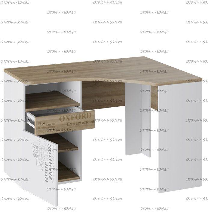 Стол угловой с ящиками Оксфорд ТД-139.15.03 (121х89х76)