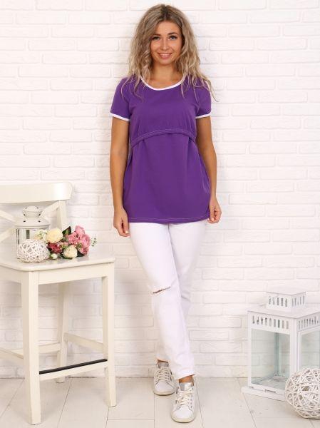Футболка для беременных и кормящих , Фиолет
