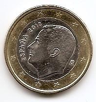 1 евро регулярная монета Испания 2018