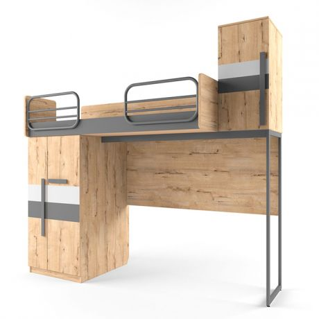 Кровать верхняя малая без лесенки шкаф