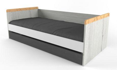 Кровать малая с доп сп местом Ньютон Грэй