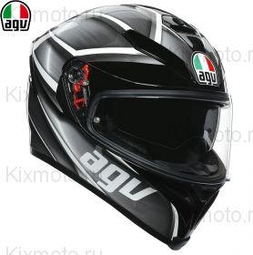 Шлем AGV K-5 S Tempest, Черно-серебряный