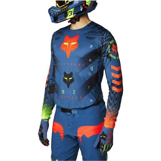 Fox Flexair Mawlr Dust Blue джерси для мотокросса