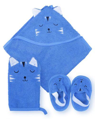 """Банный набор для новорожденных Bonito """"Котик"""""""