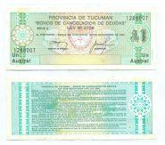 Аргентина - 1 Аустрал 1988 UNC провинция Тукуман