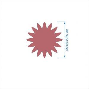 `Заготовка ''Цветок-8'' , фетр 1 мм