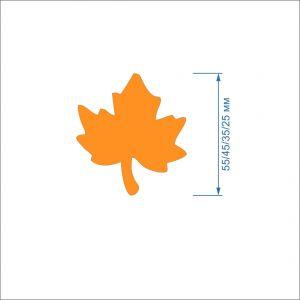 Заготовка ''Кленовый лист-2'' , фетр 1 мм (1уп = 5наборов)