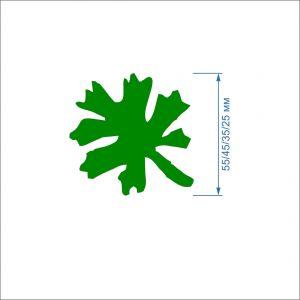 Заготовка ''Листок-4'' , фетр 1 мм (1уп = 5наборов)