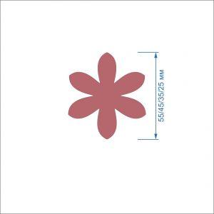 Заготовка ''Цветок-3'' , фетр 1 мм (1уп = 5наборов)