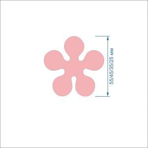 Заготовка ''Цветок-6'' , фетр 1 мм (1уп = 5наборов)