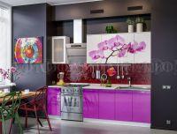 Кухня МДФ с фотопечатью Орхидея-1.