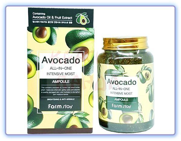 Ампульная сыворотка с экстрактом авокадо FarmStay Avocado All-In-One Intensive Moist Ampoule